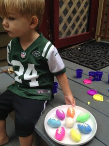 Theo's colorful footballs